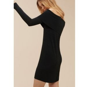 Aritzia Wilfred Free Amilna dress black size small